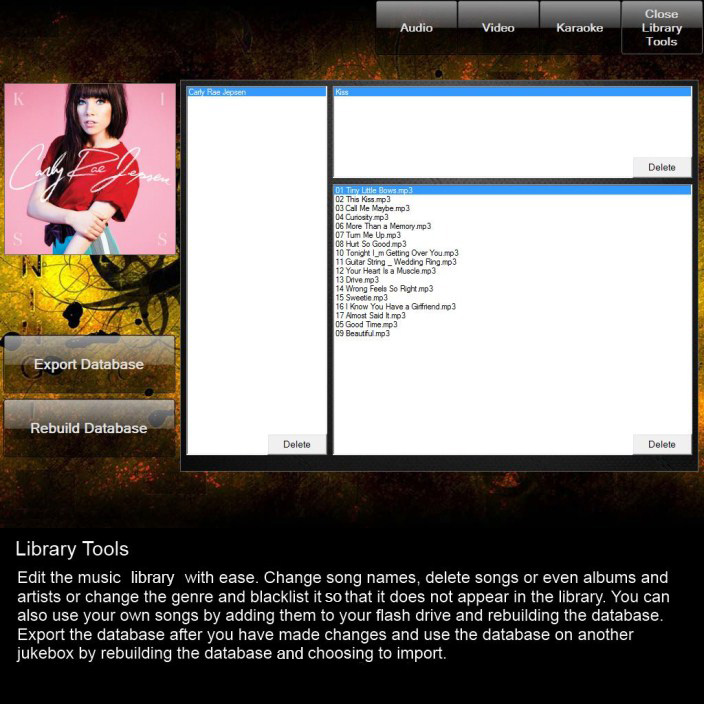 Music Library Tools Page