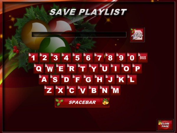 Save Playlist Page with Christmas Theme