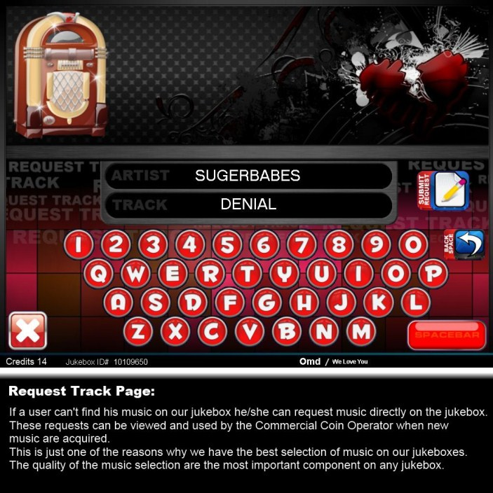 Request Track Page
